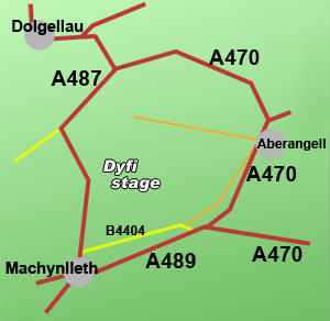 dyfi rally stage, Mid Wales