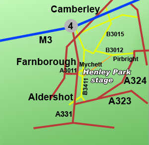 henley park rally stage